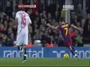 Résumé match Barcelone 5 - 0 Séville (1/2) le 30-10-2010
