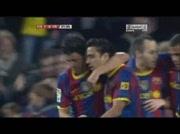 Barcelone 3-1 Villareal ( goal Villa 22e)