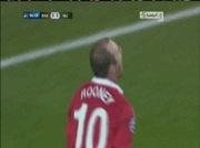 Rangers 0-1 Manchester | But Rooney