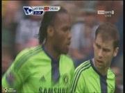 Bromwich 1-1 Chelsea |  But Drogba 22e